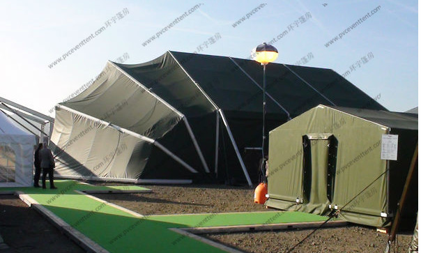 Aluminum Frame Folding Military Army Tent Army Green PVC Mini For Outside Temporary Use