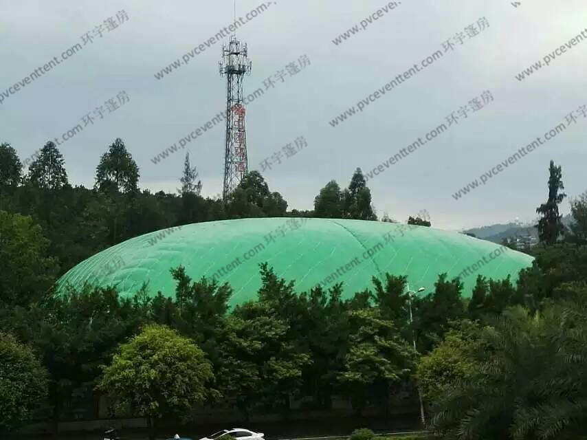 Movable Geen Roof Cover Outdoor Event Tent No Pole Inside With AC System