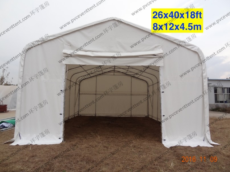 White Waterproof PVC Canopy Tent AC System Temporary For Outside Patry / Tempporary Military Tent