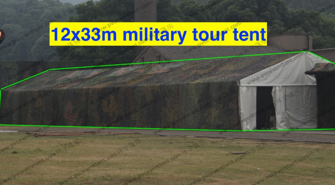 Rainproof Cover Military Surplus Tents Camouflage 12m x 33m For Camping
